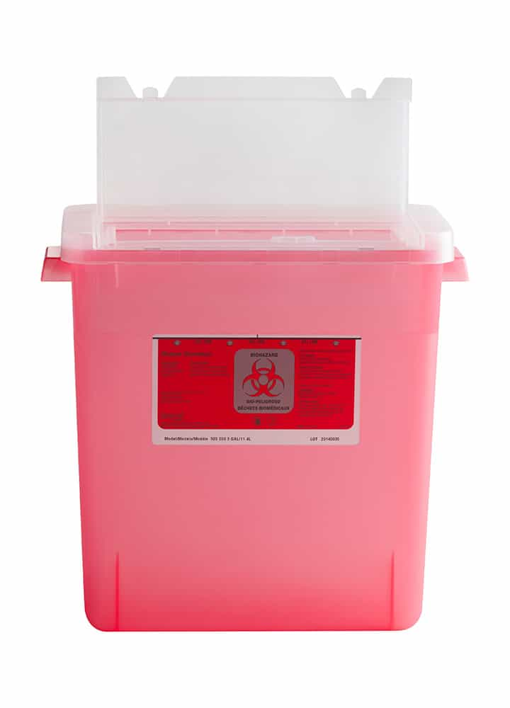3 Gallon Lab Lid Sharps Container