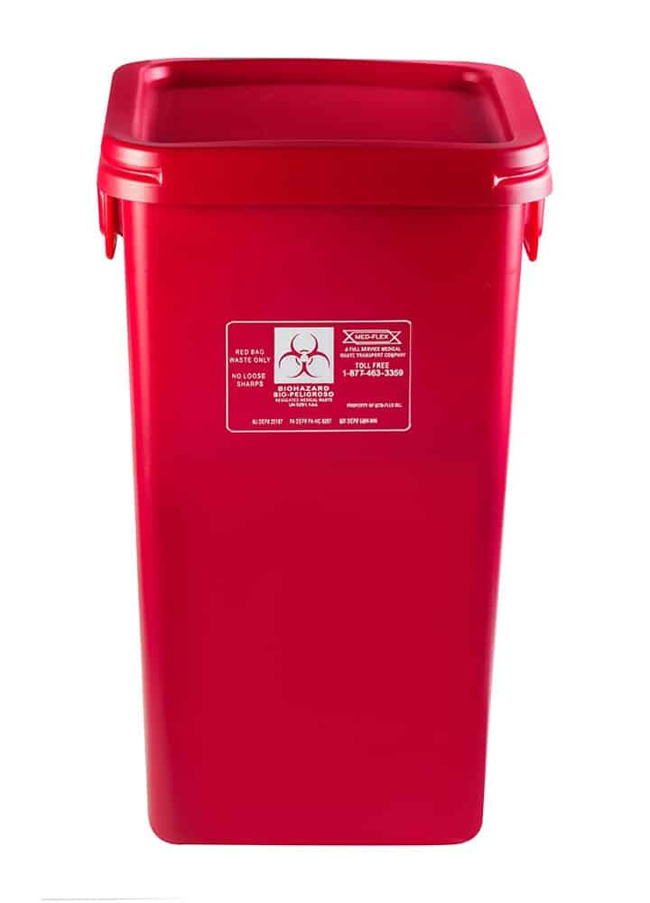 38 Gallon Reusable Waste Container Med Flex