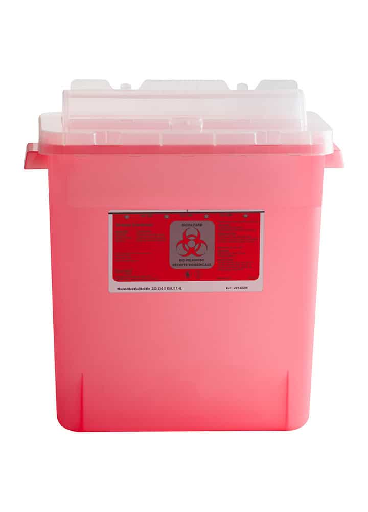 3 Gallon Security Lid Sharps Container